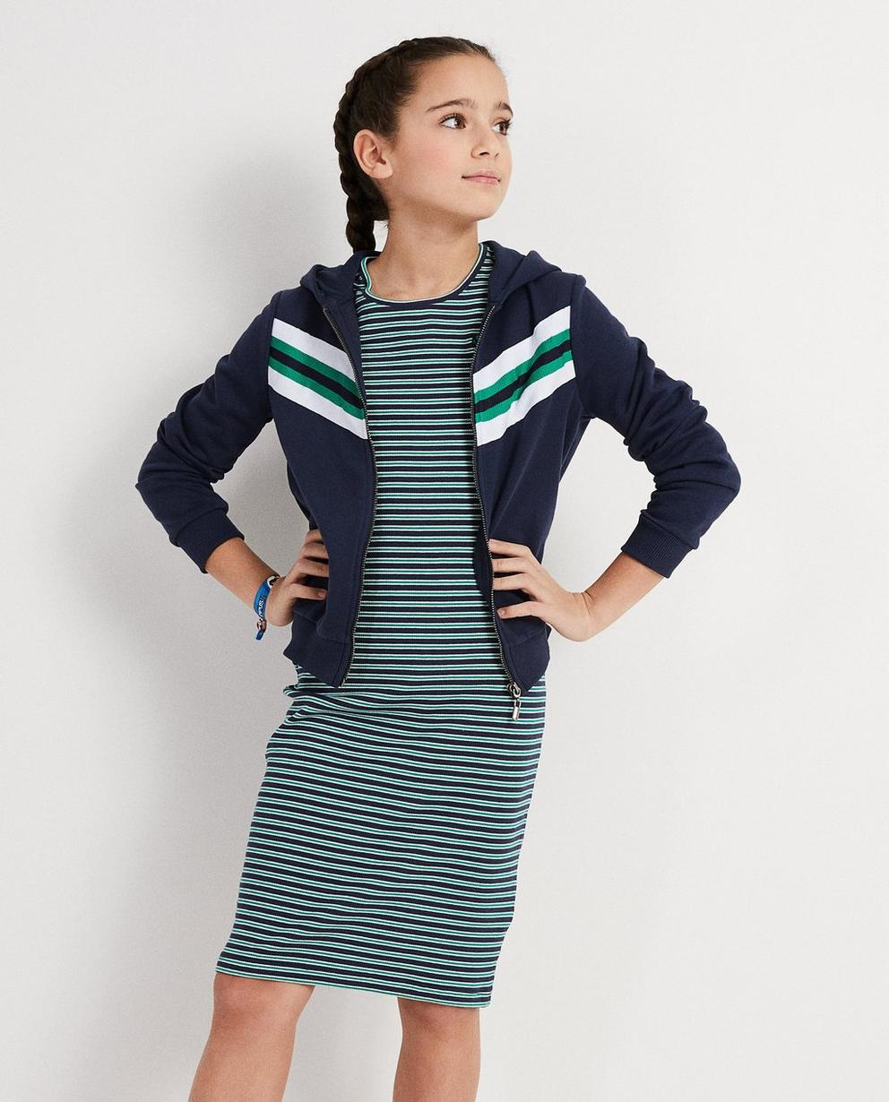 Strickjacken - Navy - Trainingsjacke mit Color-Block